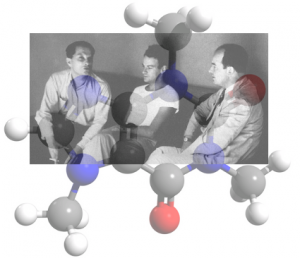 Stanislaw Ulam, Richard Feynman y John von Neumann. Molécula de cafeina